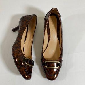 COLE HAAN Women's Animal Print Patent Leather 8.5B